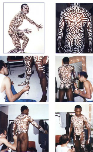 Untitled (body painting), 1983, Acrylic