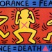 gnorance = Fear, 1989, Poster, 24 x 43 1/4 inches  thumbnail