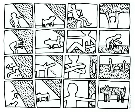 the blueprint drawings keith haring