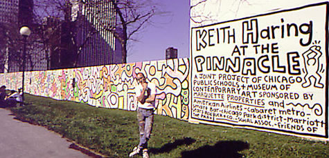 Untitled keith haring for Chicago mural project