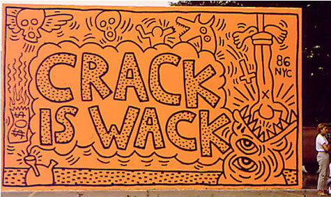 Crack is wack keith haring for Crack is wack mural