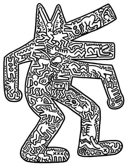 Super Dog | Keith Haring AO11