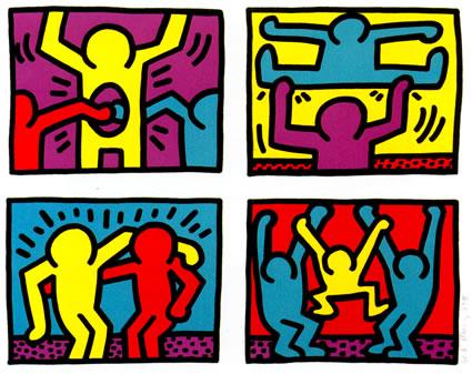 Fabulous Pop Shop Quad 1 | Keith Haring JO89