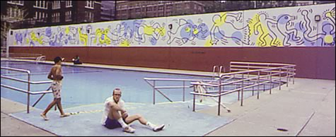 Carmine street mural keith haring for Community swimming pool grants